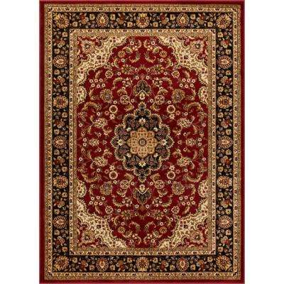 Barclay Medallion Kashan Red 9 ft. x 13 ft. Traditional Area Rug