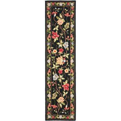 Runner Black Area Rugs Rugs The Home Depot