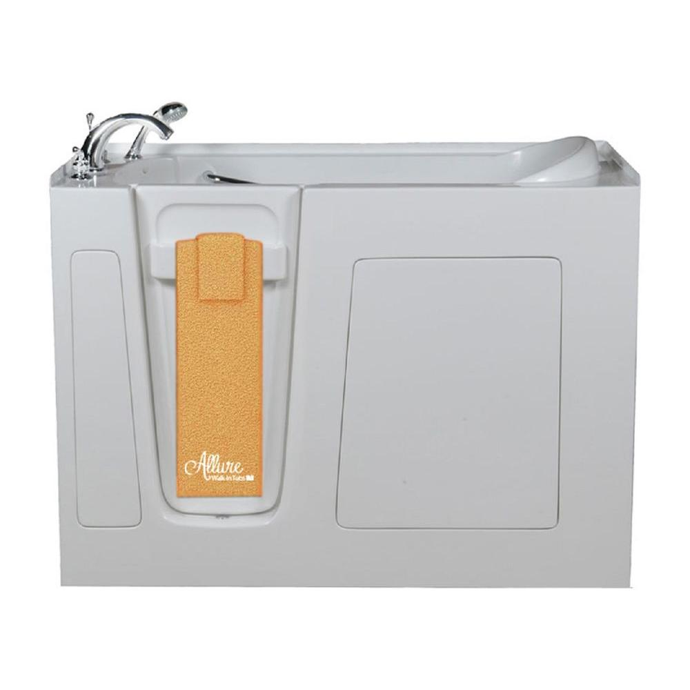Allure Walk In Tubs 4.58 ft. Left-Drain Walk-In Whirlpool and Air Bath Tub in White