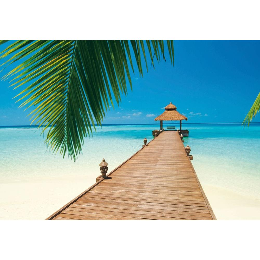 100 in. x 144 in. Paradise Beach Wall Mural