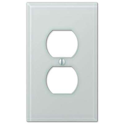 Acrylic Glass 1 Duplex Outlet Plate