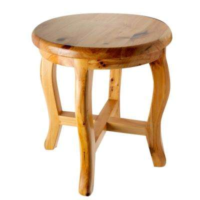 11 in. x 11. in. Vanity Stool in Natural Wood