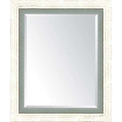 30 in. x 36 in. Framed French White large and Slate Mirror