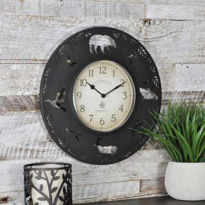 11 in. Round Lodge Collection Wall Clock