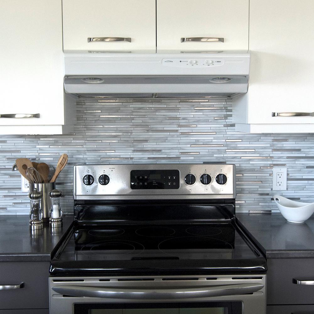 Smart Tiles Capri Carrera 988 In W X 970 In H Grey Peel And