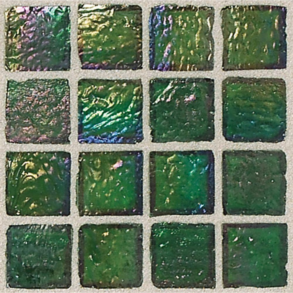 Daltile Egyptian Glass Papyrus 12 in. x 12 in. x 6 mm Glass Face-Mounted Mosaic Wall Tile