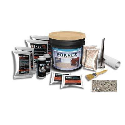 ROKREZ 230 oz. Tan Gloss 2.5 Car Garage Industrial Epoxy Floor Kit 2 Component 100% Solids All-In-One DIY Kit