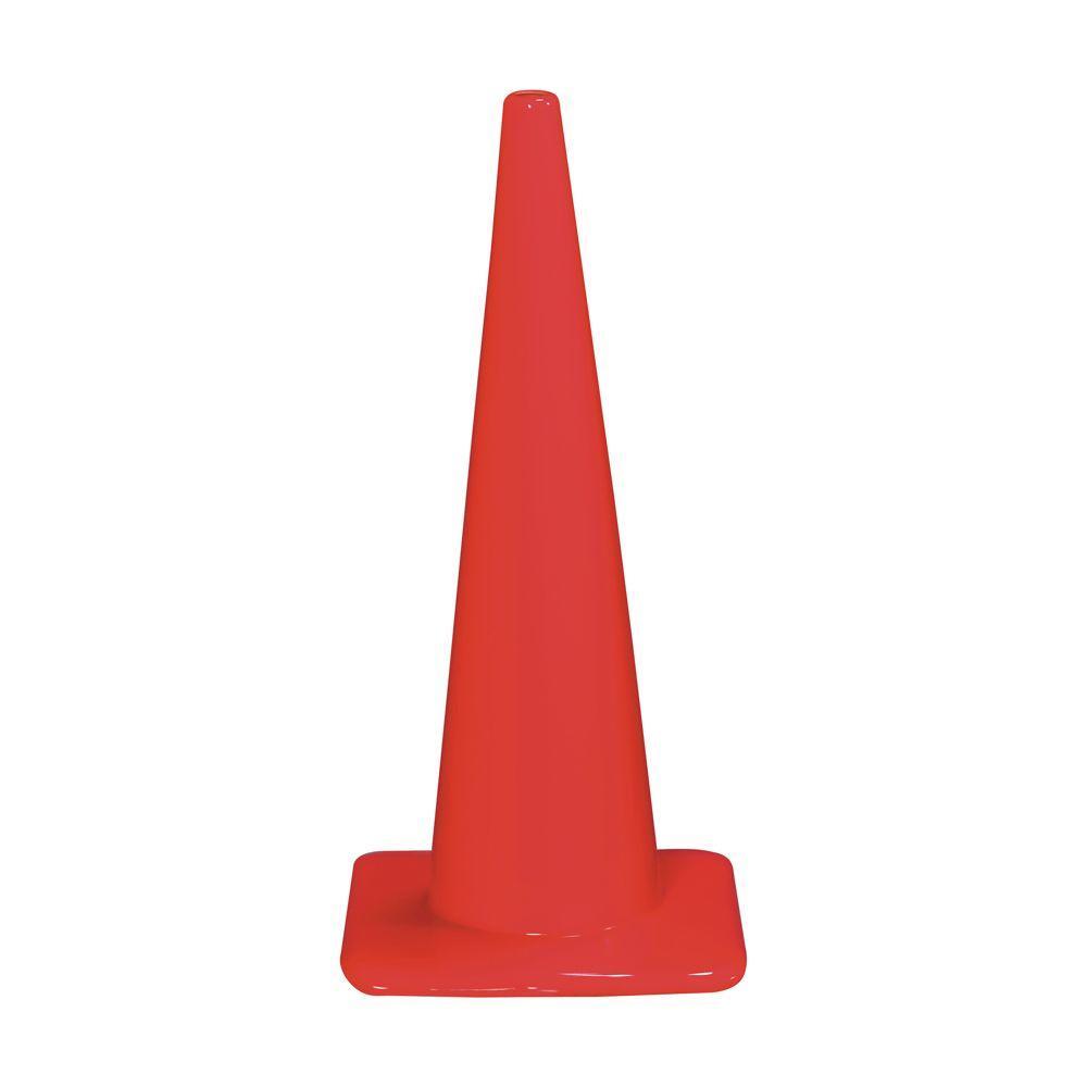 3M 28 in. Orange PVC Non Reflective Traffic Safety Cone (Case of 6)