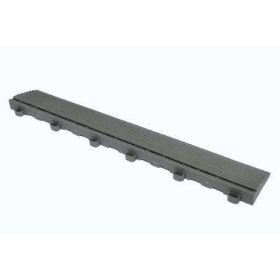 15.75 in. Slate Grey Looped Edging for 15.75 in. Swisstrax Modular Tile Flooring (2-Pack)
