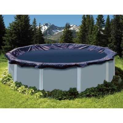 Swimline 16 ft. x 28 ft. Oval Deluxe Aboveground Winter Cover with 20 ft. x 32 ft. Cover Size