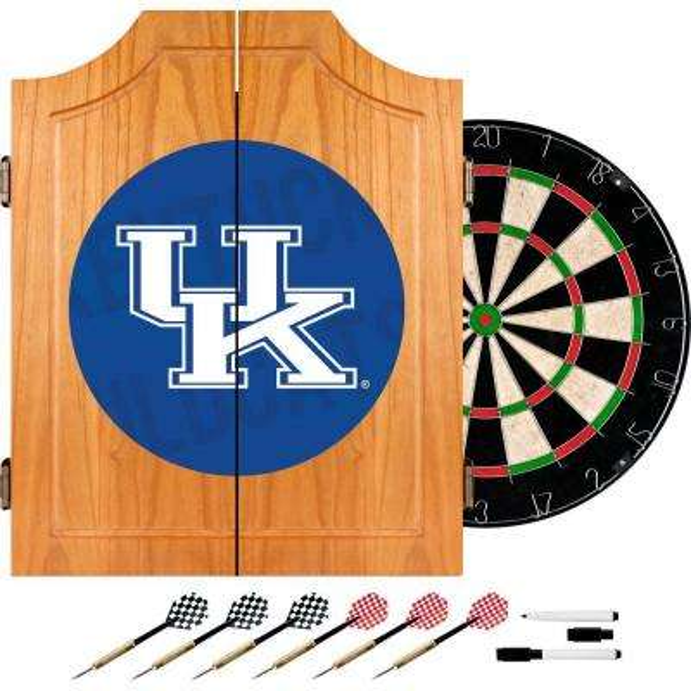 University of Kentucky Wordmark 20.5 in. Wood Dart Cabinet Set