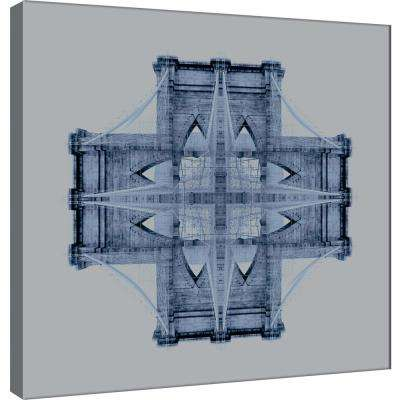15.in x 15.in ''Brooklyn Bridge Medallion 1'' Printed Canvas Wall Art