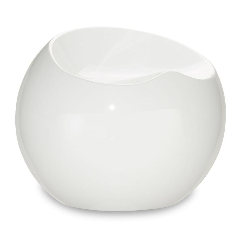 ZUO Plastic Drop Stool in White