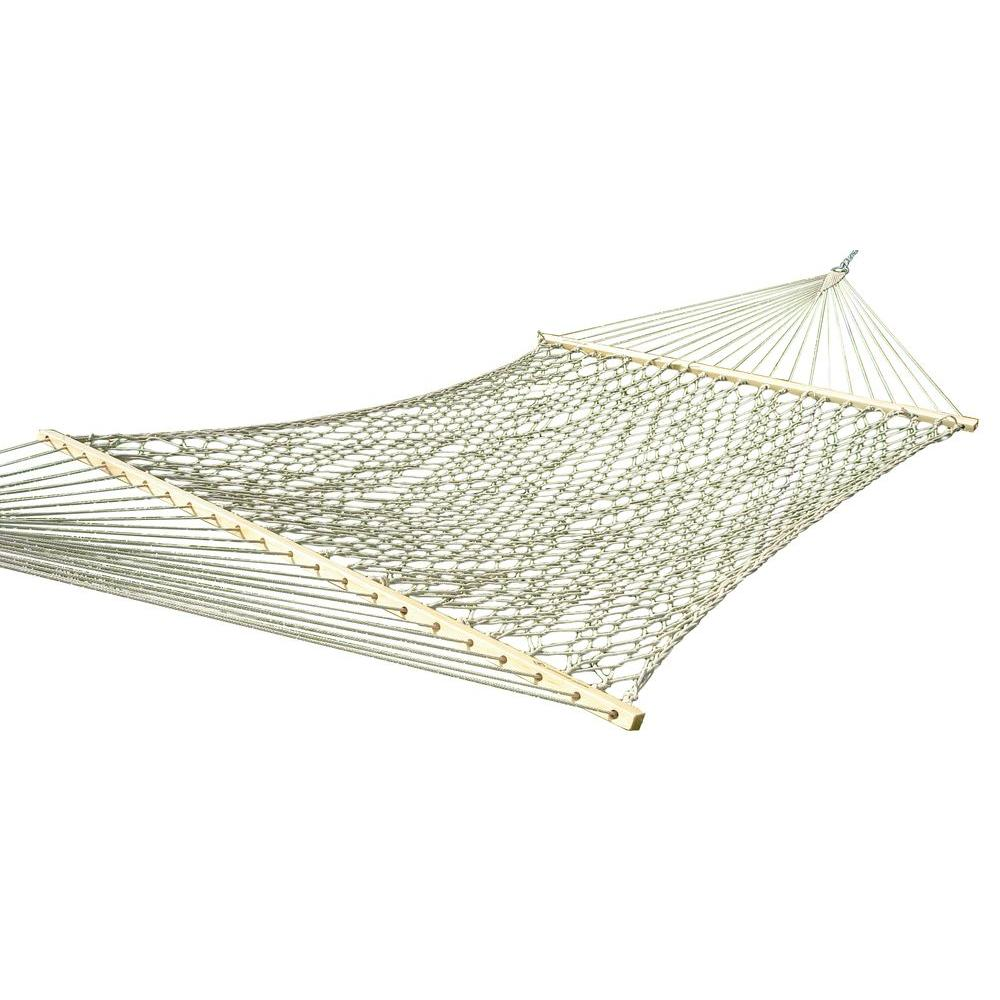 cotton rope double hammock in natural vivere 12 5 ft  cotton rope double hammock in natural cot21   the      rh   homedepot