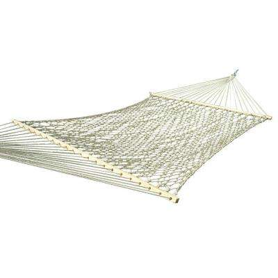 12.5 ft. Cotton Rope Double Hammock in Natural