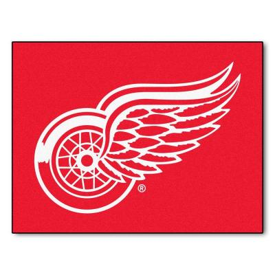 NHL Detroit Red Wings Red 3 ft. x 4 ft. Indoor All Star Area Rug
