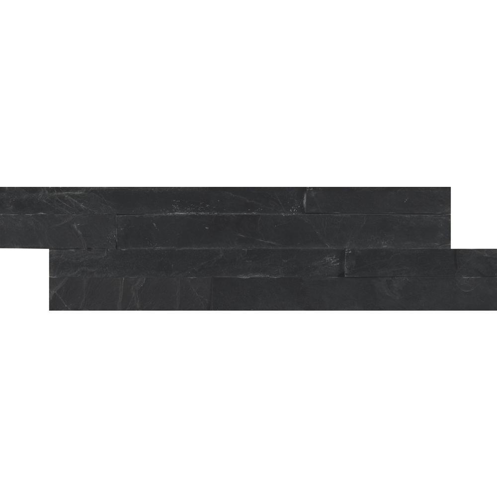 MSI Premium Black Mini Ledger Panel 4.5 in. x 16 in. Natural Slate ...