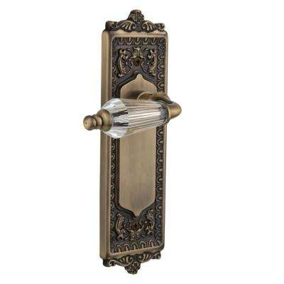 Egg and Dart Plate 2-3/4 in. Backset Antique Brass Privacy Bed/Bath Parlor Lever