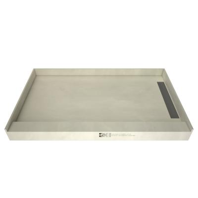 WonderFall Trench 42 in. x 72 in. Single Threshold Shower Base with Right Drain and Tileable Trench Grate