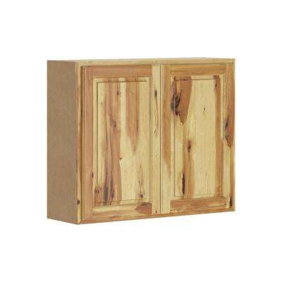 Madison Assembled 36x30x12 in. Wall Cabinet in Hickory
