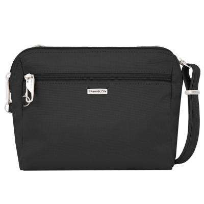 Anti-Theft Black Classic Convertible Crossbody and Waist Pack
