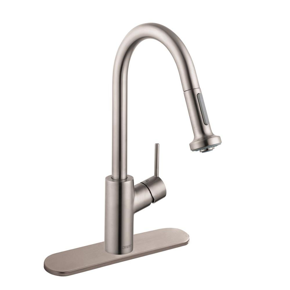 Hansgrohe Talis S Single-Handle Pull-Down Sprayer Kitchen Faucet ...