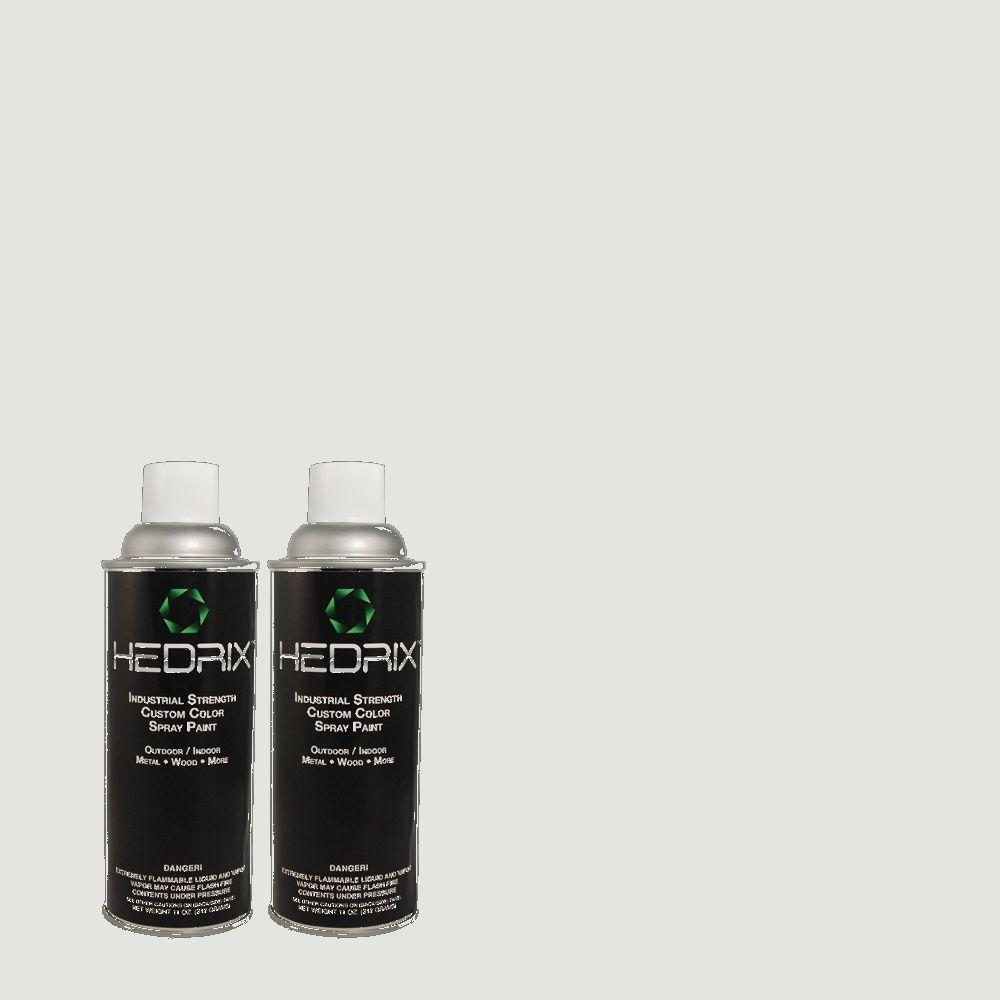 Hedrix 11 oz. Match of ICC-36 Serene Semi-Gloss Custom Spray Paint (2-Pack)