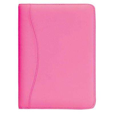 Genuine Leather Compact Writing Portfolio Organizer, Wildberry