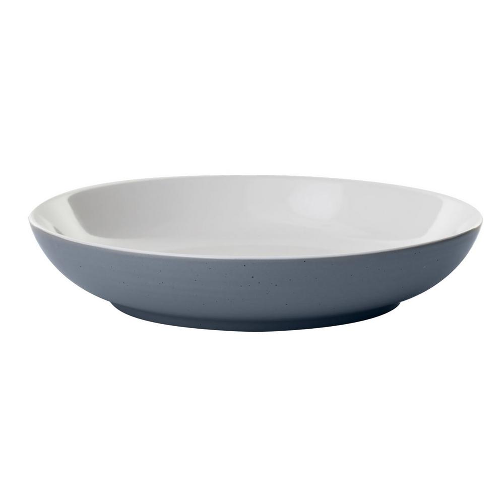 Urban Story 10 oz. 4-Piece Blue Ceramic Entree Bowl Set