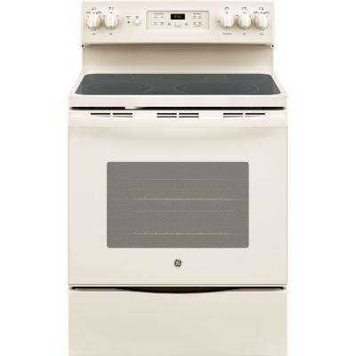 30 in. 5.3 cu. ft. Free-Standing Electric Self-Clean Range with Convection in Bisque