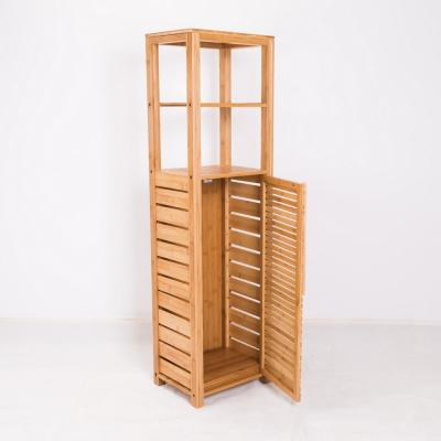 47.5 in. Natural Wood 2-shelf Accent Bookcase with Doors