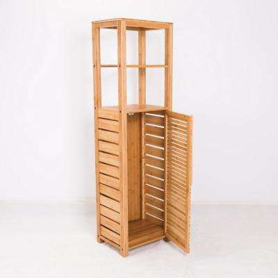 New Ridge Home Natural Bookcase with Storage Cabinet