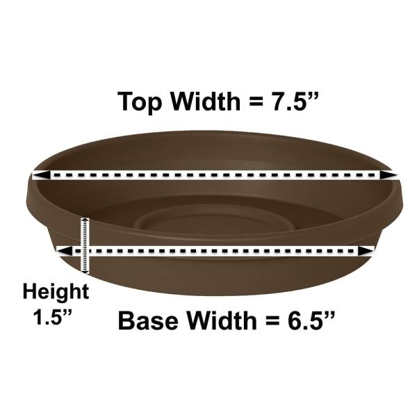 Terra Plant Saucer Tray 8 in Chocolate