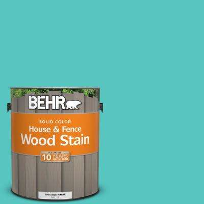 1 gal. #490B-4 Sea Life Solid Color House and Fence Exterior Wood Stain