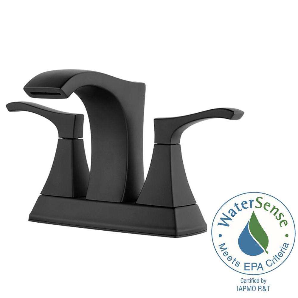 Pfister Venturi 4 in. Centerset 2-Handle Bathroom Faucet in Matte ...