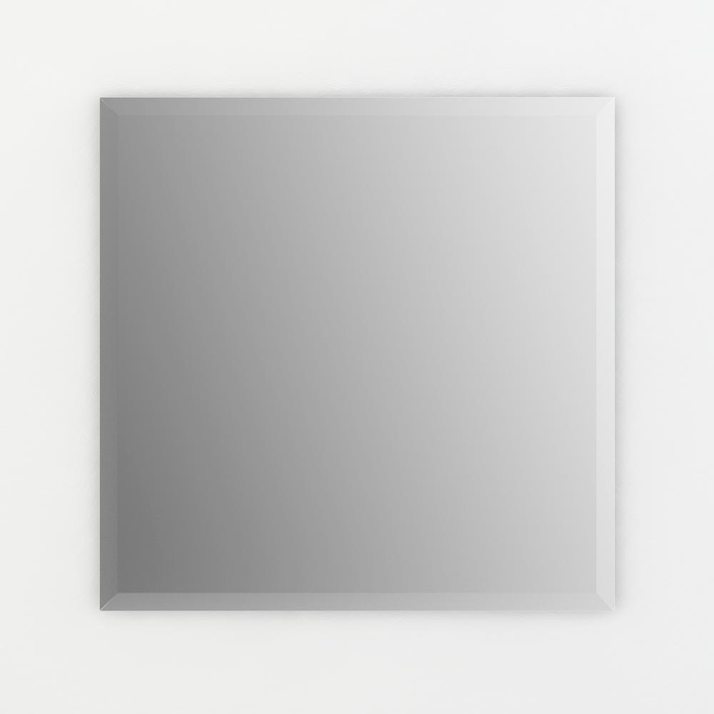 Delta Delta 28 in. x 28 in. (L2) Square Frameless TRUClarity Deluxe Glass Mirror with Easy-Cleat Flush Mount Hardware, No Frame