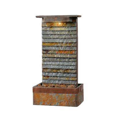 Stave Slate and Copper Table Fountain