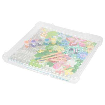 12 in. x 12 in. Slim Portable Project Case in Clear (10-Pack)