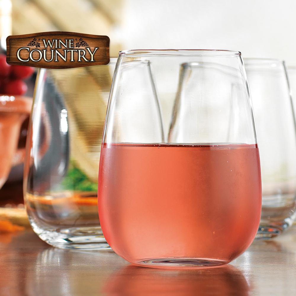 17.5 fl. oz. Stemless Wine Glasses (4-Pack)