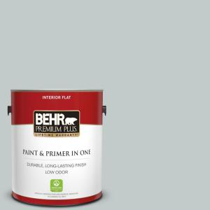 1 gal. #730E-3 River Rock Flat Low Odor Interior Paint and Primer in One
