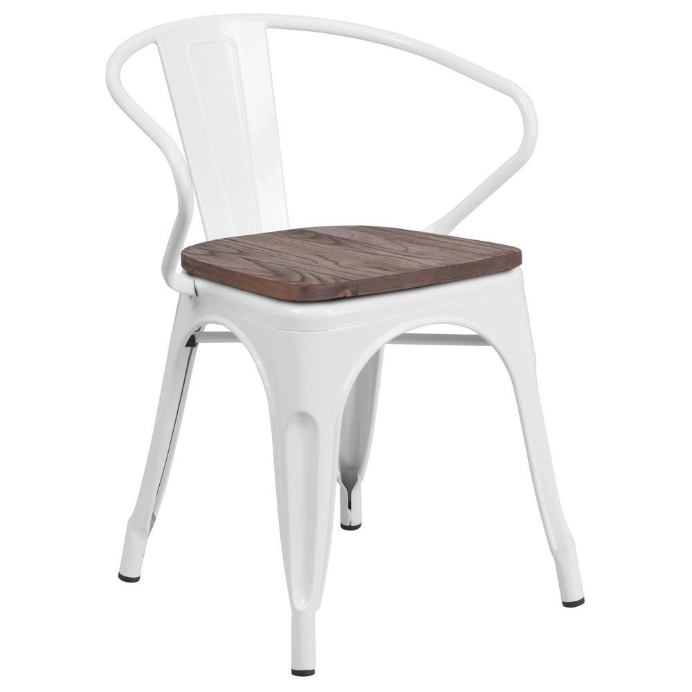 Carnegy Avenue White Side Chair CGA-CH-249927-WH-HD