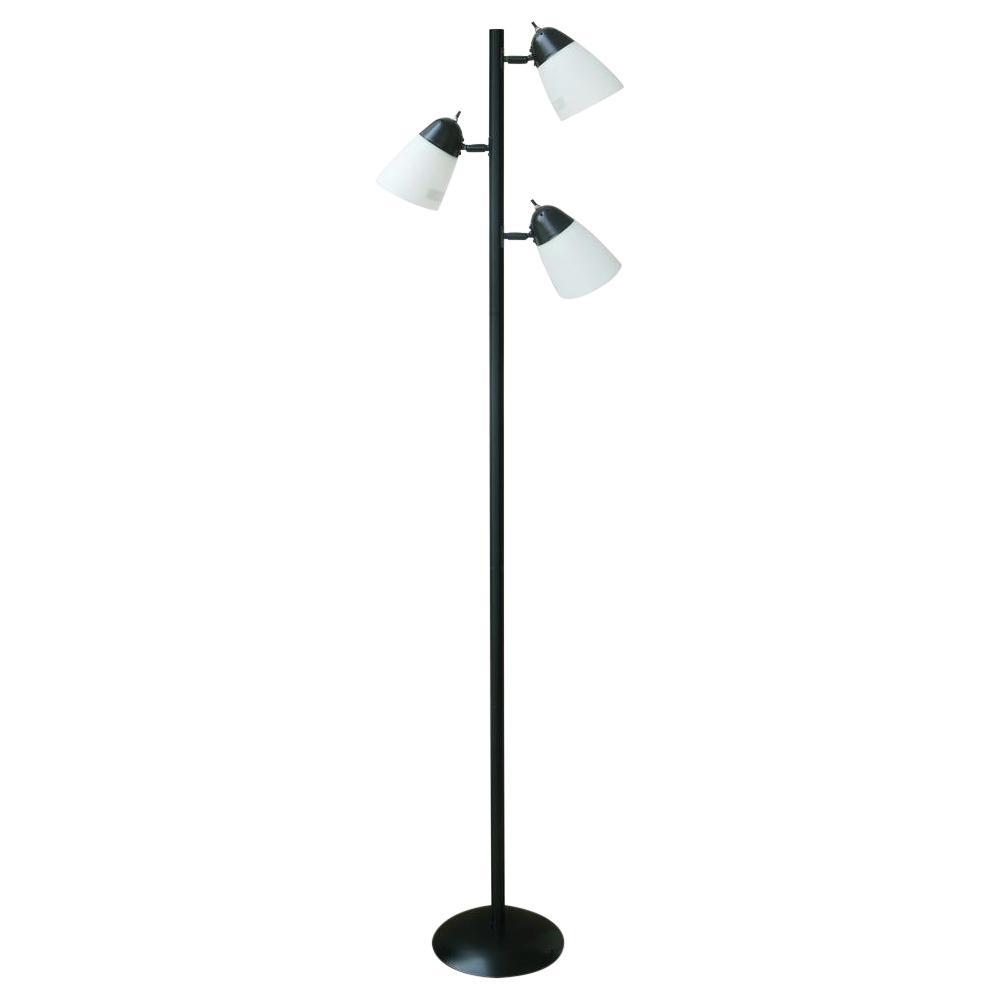 Track Tree Floor Lamp Black With Led