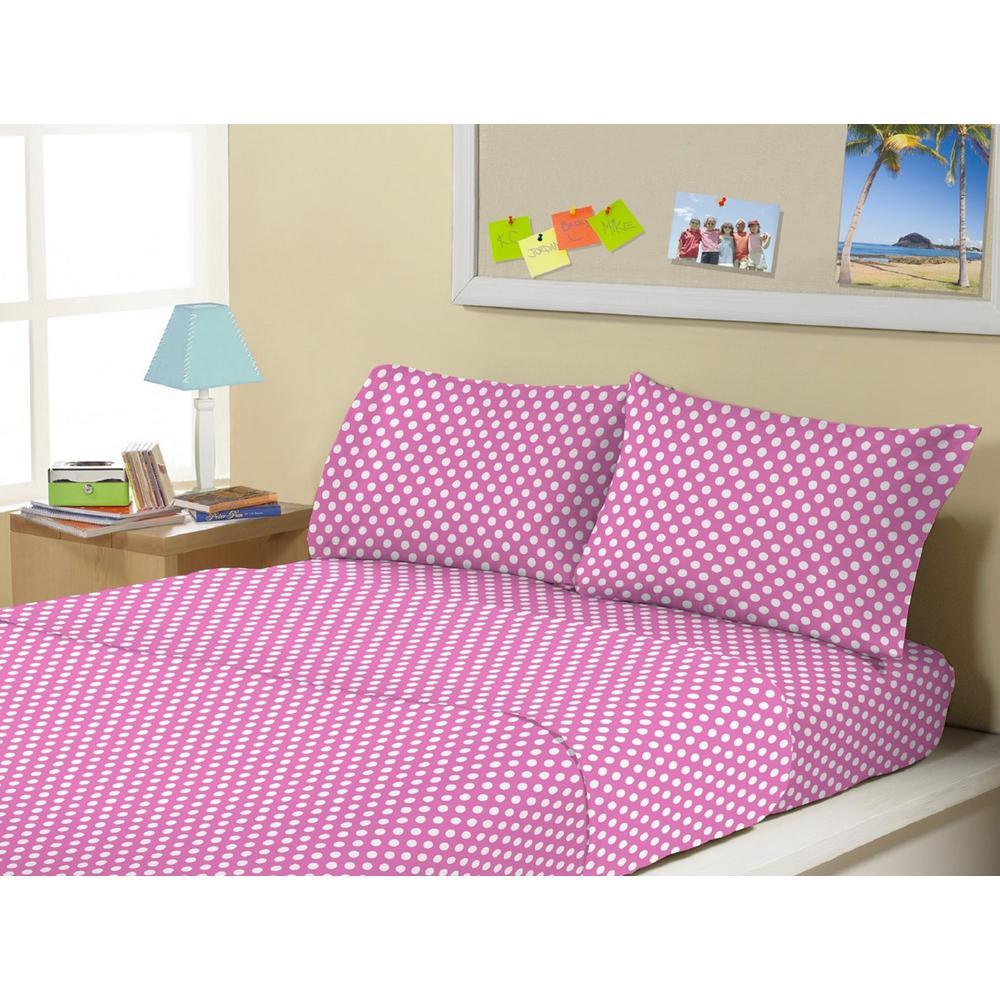 3-Piece Minnie Polka Twin Sheet Set by