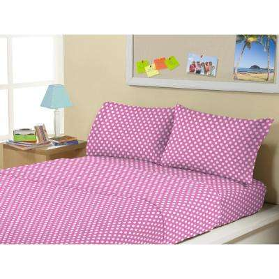 4-Piece Minnie Polka Dot Full Sheet Set