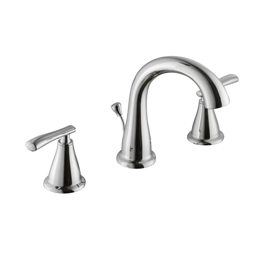 Schon Zuri 8 in. Widespread 2-Handle High-Arc Bathroom Faucet in ...