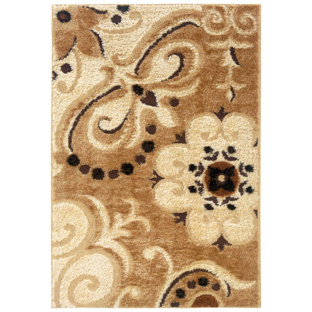 United Weavers Glace Wheat 6 ft. 7 in. x 9 ft. 10 in. Area Rug