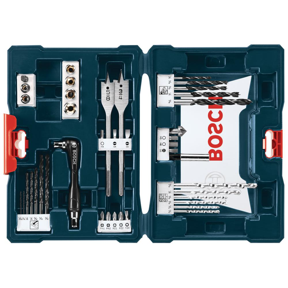 bosch drilling and driving set 41 piece ms4041 the home depot. Black Bedroom Furniture Sets. Home Design Ideas