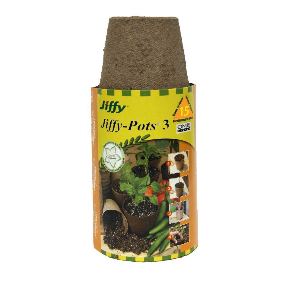 3 in. Round Peat Pot kit