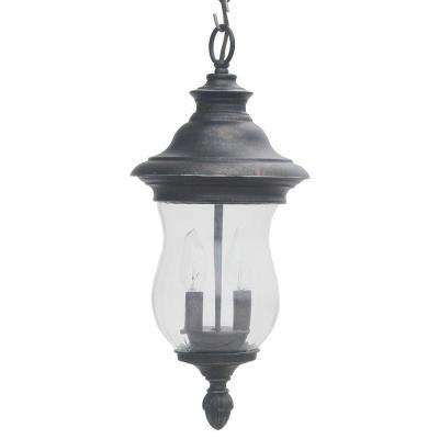 Wesleigh 2-Light Bronze Outdoor Chain Hung Lantern