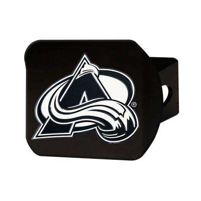 NHL Colorado Avalanche Class III Black Hitch Cover with Chrome Emblem